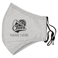 Custom Name Cheer Pom Mask