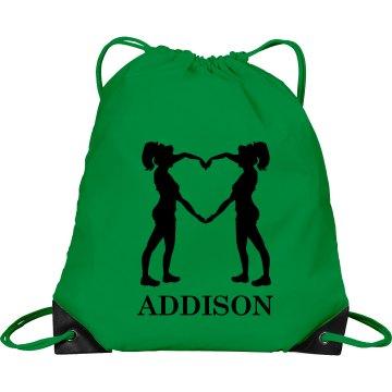 Addison cheer bag