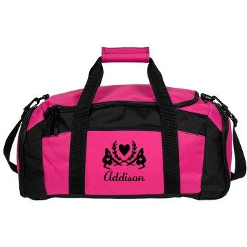 Addison. Gymnastics bag