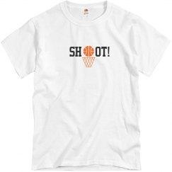 Basketball Shoot T-shirt wht
