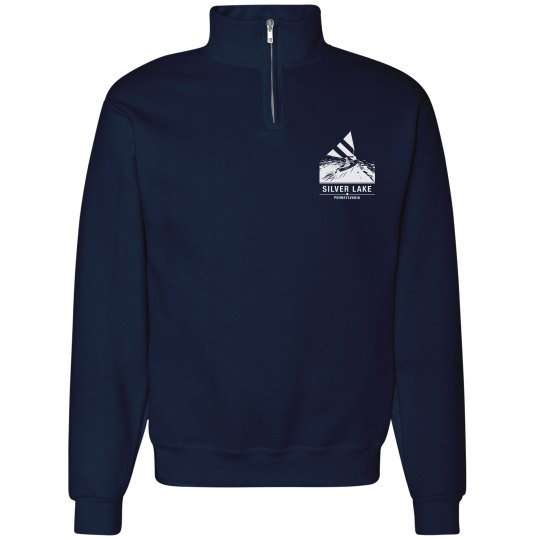 Adult 1/4 zip SILVER LAKE sweatshirt