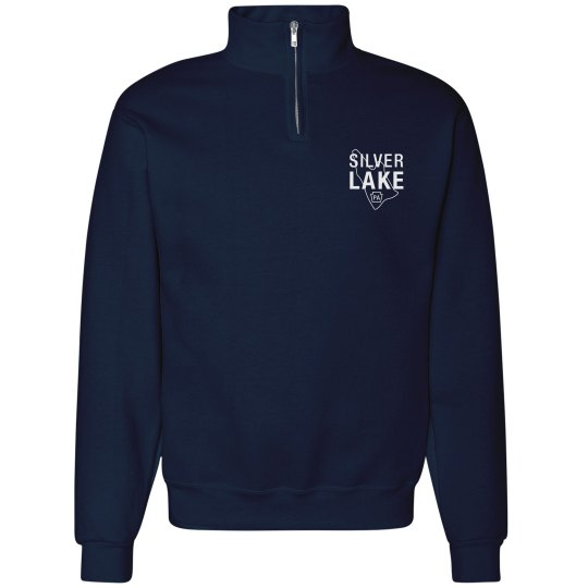 Adult 1/4 zip with Silver Lake outline logo