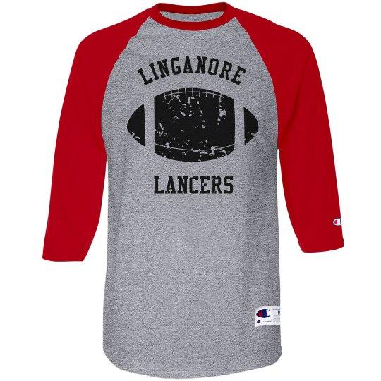 Adult distressed linganore lancers Raglan T-Shirt