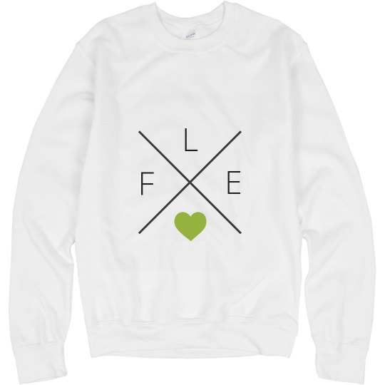 ADULT FLEX Heart Crewneck Sweatshirt
