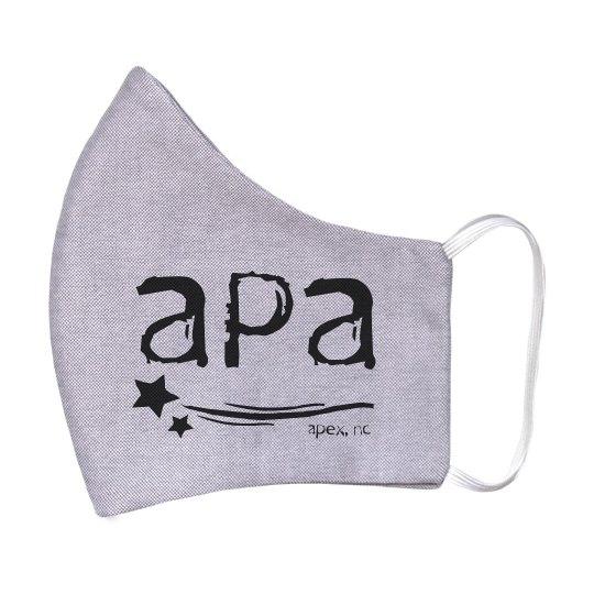 Adult Mask Two Sided Black APA