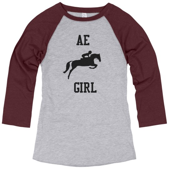AE Girl Quarter Tee Blue