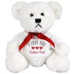 I Love You Custom Text Heart Bear