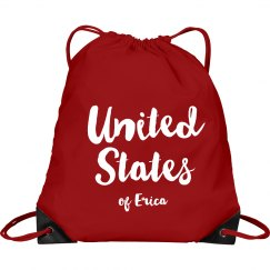 United States of Erica - Pink Drawstring Backpack