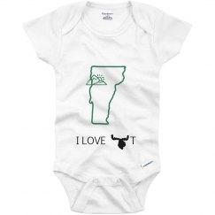 I LOVE VT BABY ONESIE