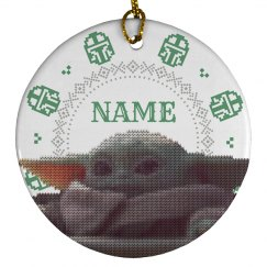 Custom Knit Baby Alien Ornament