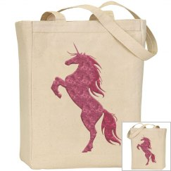 Pink Fire Unicorn Bag