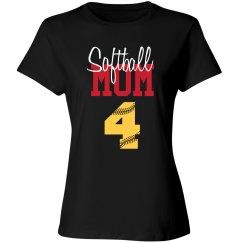 Softball Mom - number