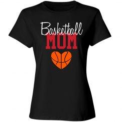 Basketball Mom - Heart