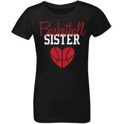 Basketball Sister - heart