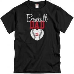 Baseball Dad - enter # heart