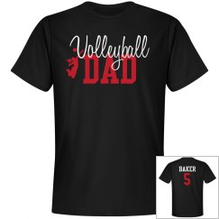 Volleyball Dad - enter name and number on back