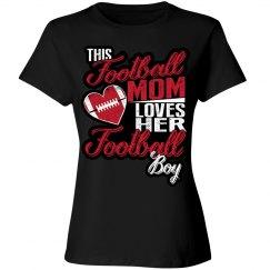 Football Mom - Loves her Football Boy