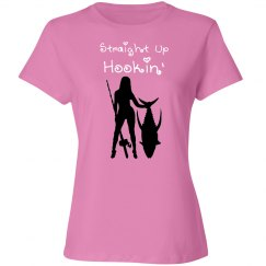 Fishing girl - straight up hookin