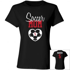 Soccer Mom - Name and Number on back and front