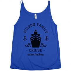 Wilson Family Cruise Custom Vacation Slouchy Tanks