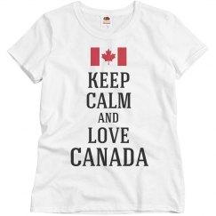 Keep calm love canada