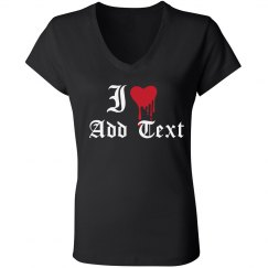 I Heart Custom Gothic Text Here