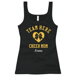 Custom Cheer Mom Fan