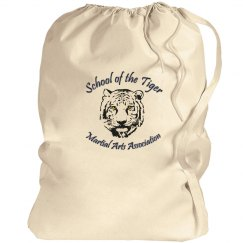 Canvas Drawstring Bag with Logo