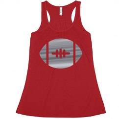 Scarlet And Gray Football Tank