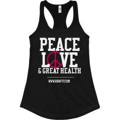 Peace & Love (Dark) Tank