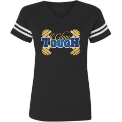 GlamTough Vintage style football T-shirt