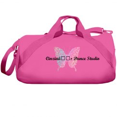 Cinzia's Dance Studio White Glitter Duffle Bag
