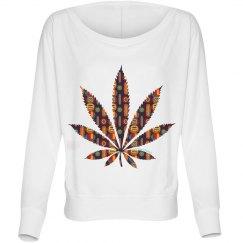 Y-Tribal Cannabis Leaf