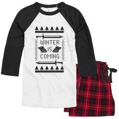 """Winter is coming"" ladies pajama set"