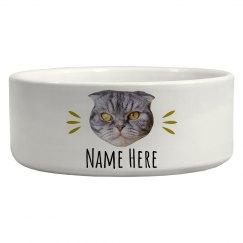 Custom Name Cat Upload Bowl
