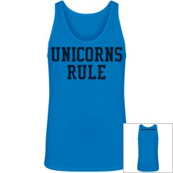 Unicorns Rule unisex tank