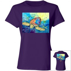 Lady Loggerhead front/back  - Ladies T