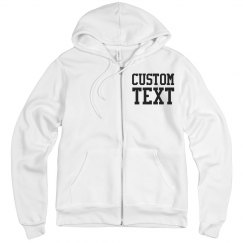 Personalize a Full Zip Hoodie