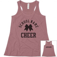 Custom School & Text Cheerleader