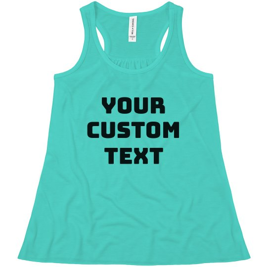 5d10e7ca290e1 Create Your Own Design Girls Tank Youth Flowy Racerback Tank Top