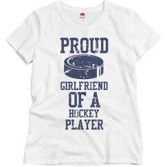 Proud hockey girlfriend