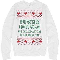 Custom Xmas Sweater: Power Couple