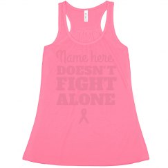 Doesn't Fight Alone Breast Cancer Ribbon