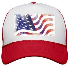 USA Flag - Trucker Hat