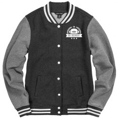 Custom Text Football Emblem Letterman Jacket