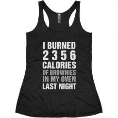 Funny Fitness Burning Brownies