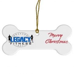 Legacy Fitness Dog Bone Ornament