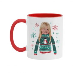 Ugly Sweater Mug With Snowflakes