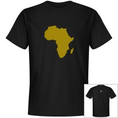 Africa Tee- Gold