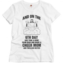 On the 6th day God made a cheer mom